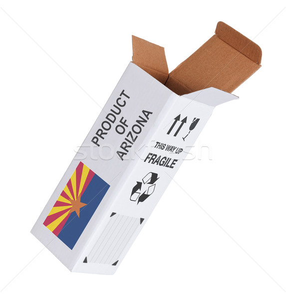 Export termék Arizona kinyitott papír doboz Stock fotó © michaklootwijk