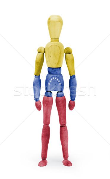 Wood figure mannequin with flag bodypaint - Venezuela Stock photo © michaklootwijk