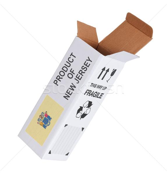 Exporteren product New Jersey papier vak Stockfoto © michaklootwijk