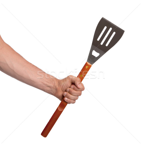 Barbecue spatula isolated on white background Stock photo © michaklootwijk