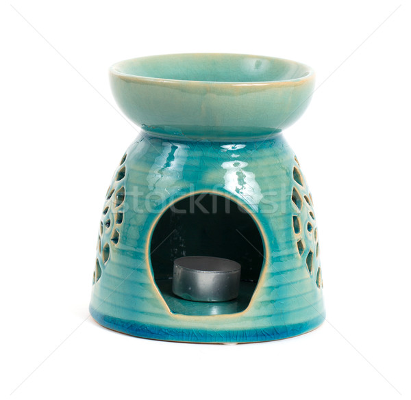 Candle in oil burner Stock photo © michaklootwijk