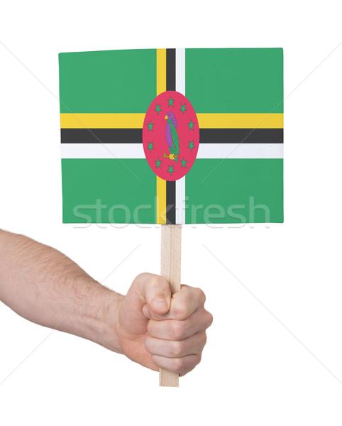 Hand klein kaart vlag Dominica Stockfoto © michaklootwijk