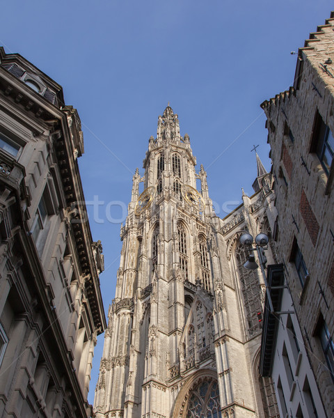 Cathedral of Our Lady in Antwerp, Belgium Stock photo © michaklootwijk