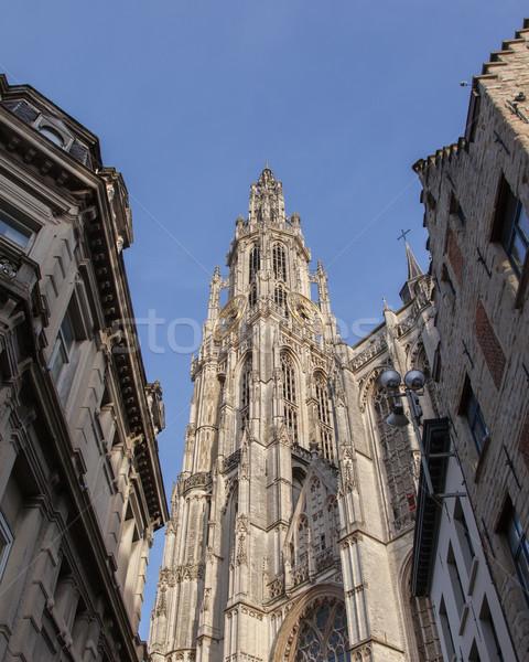 Cattedrale signora Belgio costruzione clock chiesa Foto d'archivio © michaklootwijk