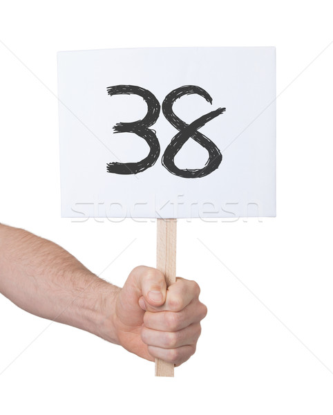 Sign with a number, 38 Stock photo © michaklootwijk