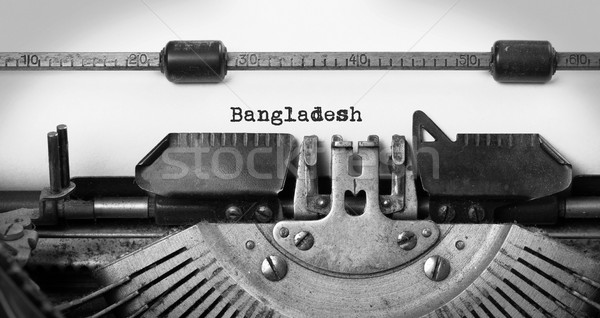 старые машинку Бангладеш стране технологий Сток-фото © michaklootwijk
