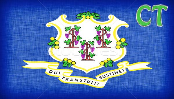 Bandeira Connecticut abreviatura mapa fundo Foto stock © michaklootwijk