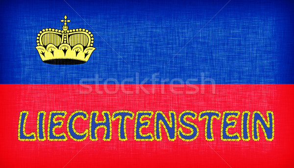 Flag of Liechtenstein stitched with letters Stock photo © michaklootwijk