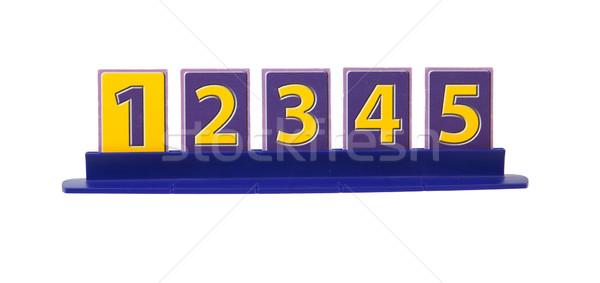Rangsor egy öt kártyák műanyag terv Stock fotó © michaklootwijk