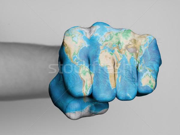 Fist of a man punching Stock photo © michaklootwijk