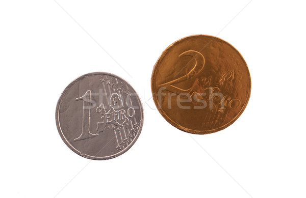 Euro currency, chocolate coins Stock photo © michaklootwijk