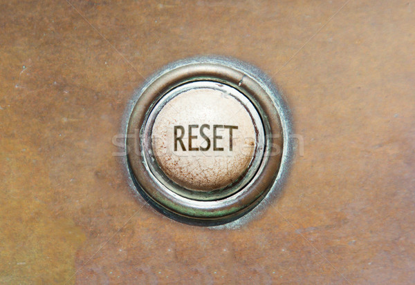Old button - reset Stock photo © michaklootwijk