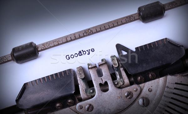Vintage opschrift oude schrijfmachine vaarwel achtergrond Stockfoto © michaklootwijk