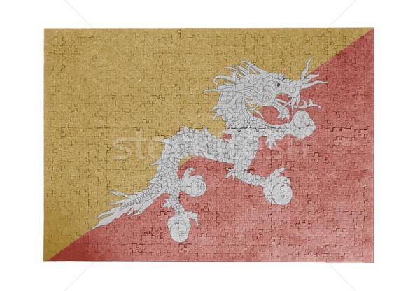 Grande 1000 peças Butão bandeira Foto stock © michaklootwijk
