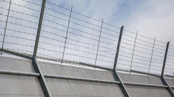 Ogrodzenia około ograniczony starych więzienia Niderlandy Zdjęcia stock © michaklootwijk