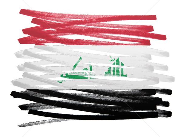 Bandeira ilustração Iraque caneta projeto silhueta Foto stock © michaklootwijk
