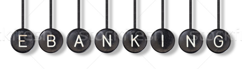 Typewriter buttons, isolated - Ebanking Stock photo © michaklootwijk