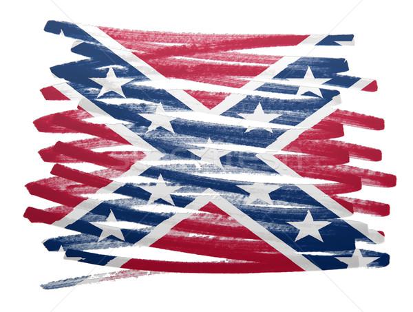 Flag illustration - Confederation flag Stock photo © michaklootwijk