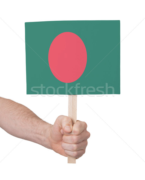 Kéz tart kicsi kártya zászló Banglades Stock fotó © michaklootwijk