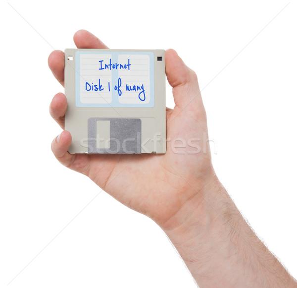 Disk geçmiş yalıtılmış beyaz Internet teknoloji Stok fotoğraf © michaklootwijk