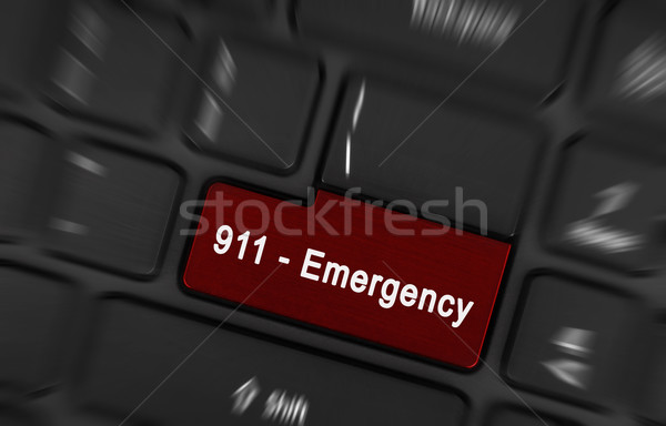 Red enter button written emergency Stock photo © michaklootwijk