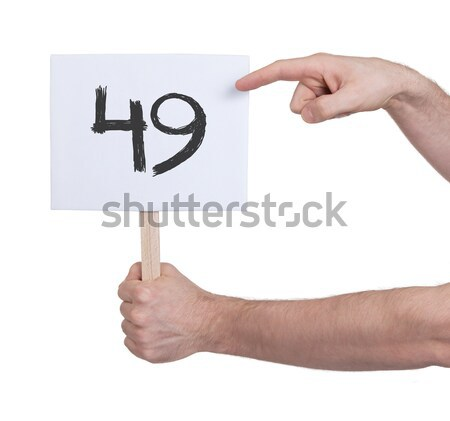Sign with a number, 9 Stock photo © michaklootwijk