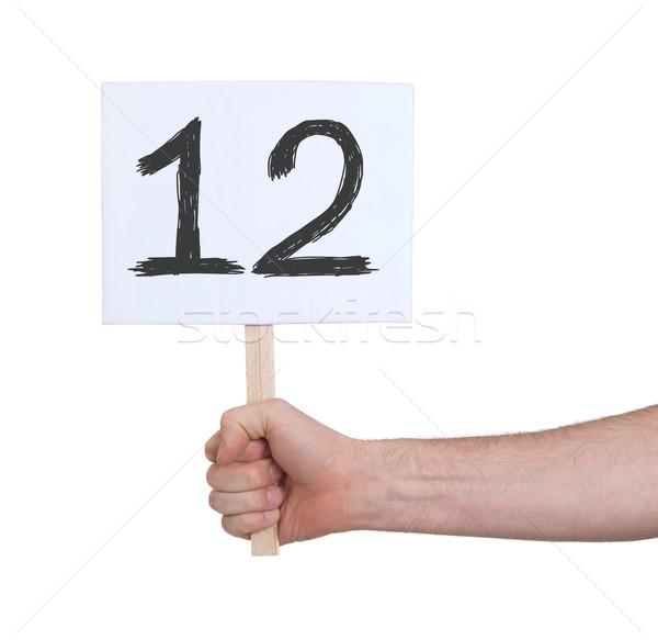 Felirat szám 12 izolált fehér üzlet Stock fotó © michaklootwijk