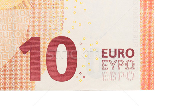 New ten euro banknote, close-up Stock photo © michaklootwijk