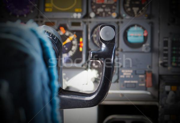 Centro consolare aereo vecchio computer tecnologia Foto d'archivio © michaklootwijk