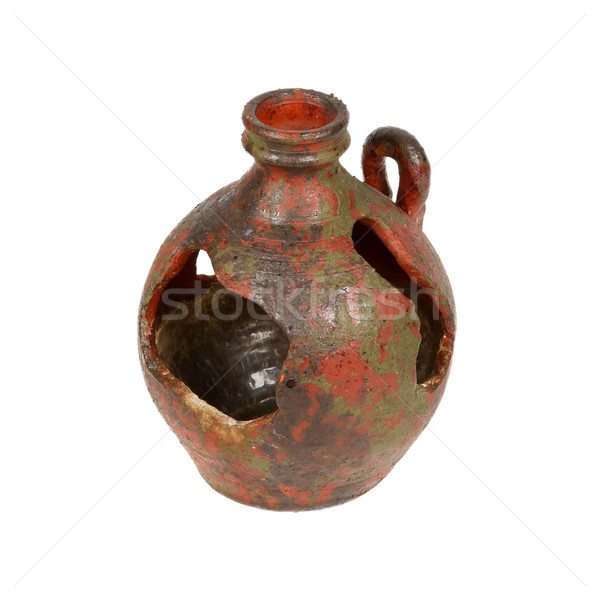 Old red vase from clay, the handwork Stock photo © michaklootwijk