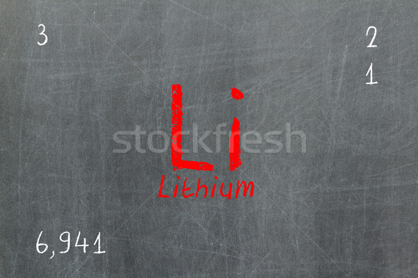 Isolado lousa lítio química escolas Foto stock © michaklootwijk
