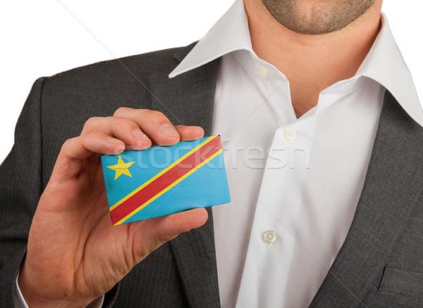 Işadamı kartvizit demokratik cumhuriyet bayrak Stok fotoğraf © michaklootwijk