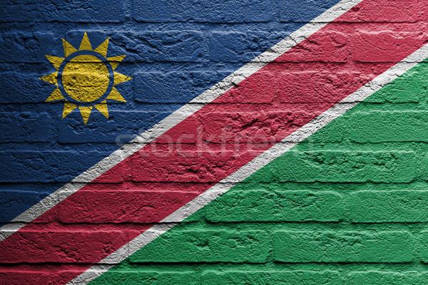кирпичная стена Живопись флаг Намибия изолированный текстуры Сток-фото © michaklootwijk
