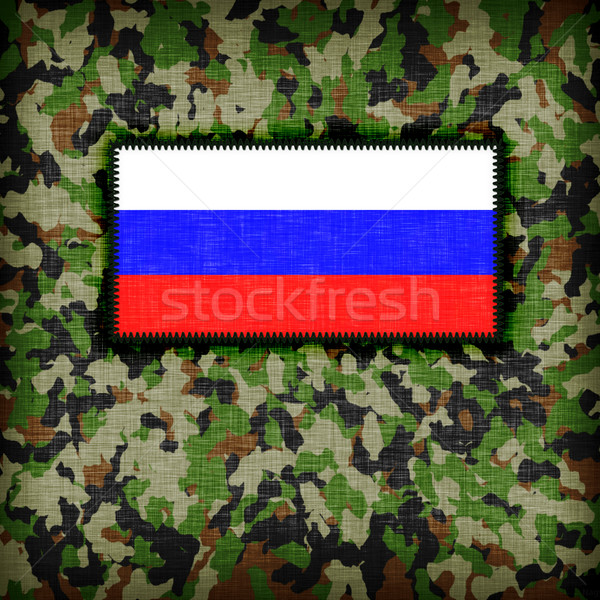 Amy camouflage uniform, Russia Stock photo © michaklootwijk