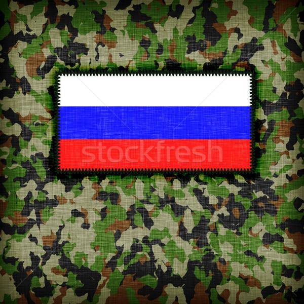 Tarnung einheitliche Russland Flagge abstrakten Krieg Stock foto © michaklootwijk