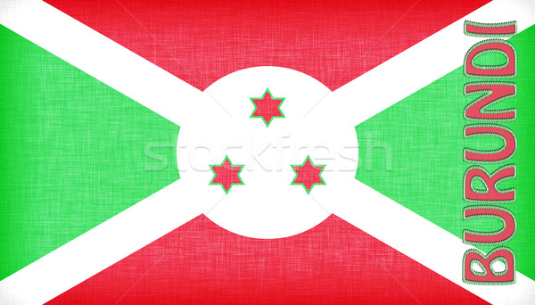 Linen flag of Burundi with letters stitched on it Stock photo © michaklootwijk