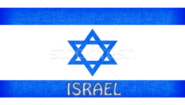 Flag of Israel stitched with letters Stock photo © michaklootwijk