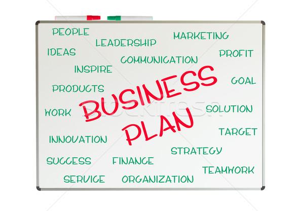 Stock fotó: üzlet · terv · szófelhő · írott · tábla · toll