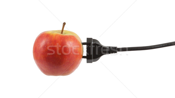 Power cable on apple Stock photo © michaklootwijk