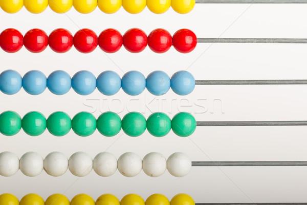 Liczydło biały szkoły narzędzia czerwony Zdjęcia stock © michaklootwijk