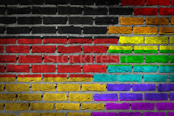 Dark brick wall - LGBT rights - Germany Stock photo © michaklootwijk