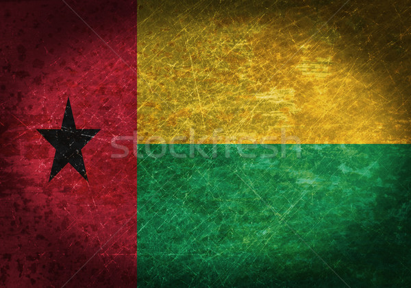 старые ржавые металл знак флаг Гвинея Сток-фото © michaklootwijk