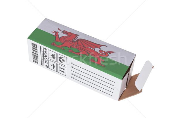Exportar produto país de gales papel caixa Foto stock © michaklootwijk