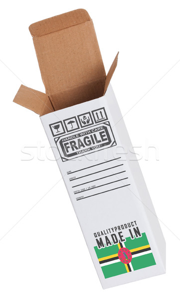 Foto stock: Exportar · produto · Dominica · papel · caixa