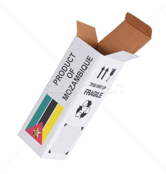 Eksport produktu Mozambik papieru polu Zdjęcia stock © michaklootwijk