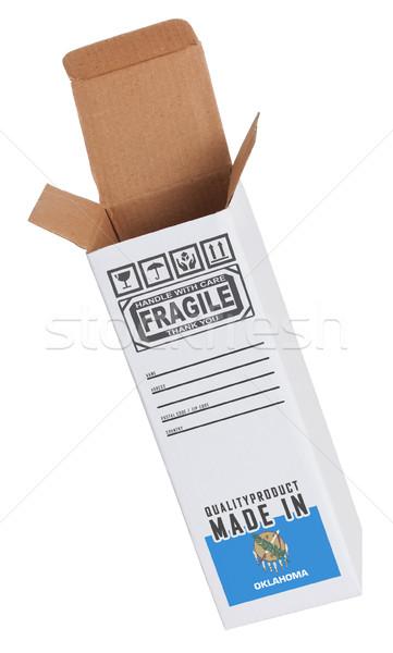 Exporteren product Oklahoma papier vak Stockfoto © michaklootwijk