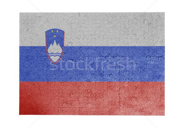 Nagy kirakós játék 1000 darabok Szlovénia zászló Stock fotó © michaklootwijk
