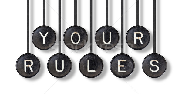 Typewriter buttons, isolated - Your rules Stock photo © michaklootwijk