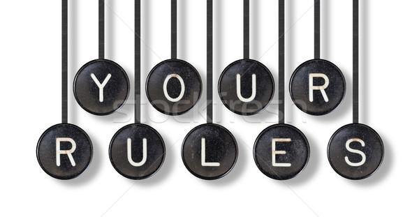 машинку Кнопки изолированный правила белый служба Сток-фото © michaklootwijk