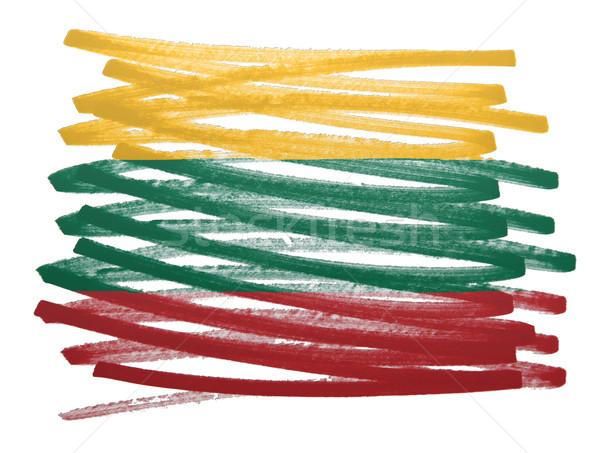 フラグ 実例 リトアニア ペン ビジネス 塗料 ストックフォト © michaklootwijk
